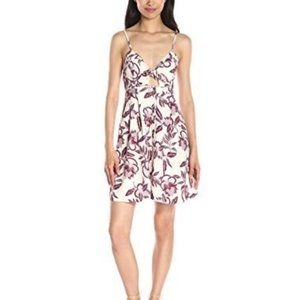 ASTR The Label Maria Sangria Floral Mini Dress